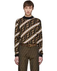 Fendi - Brown Wool Forever Sweater - Lyst