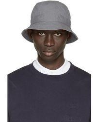 Moncler Gamme Bleu - Grey Seersucker Bucket Hat - Lyst