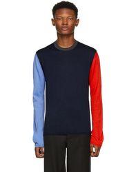 a8daddf94 Lyst - Lanvin Mix Fabric Tshirt in Black for Men