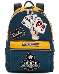 Dolce & Gabbana - Blue And Yellow Nylon Prince Of Heart Backpack - Lyst