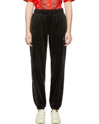 Reebok - Black Velour Vector Lounge Trousers - Lyst