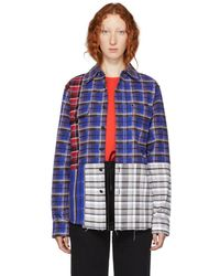 Off-White c/o Virgil Abloh - Multicolor Reconstructed Check Shirt - Lyst