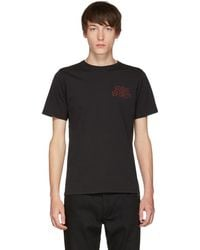 Saturdays NYC - Black Condensed Wave T-shirt - Lyst