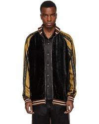 d29f55893 Gucci Suede Harrington Jacket in Blue for Men - Lyst