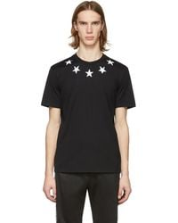 Givenchy Black And White Vintage Stars T-shirt