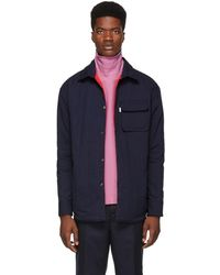 KENZO - Navy Cotton Quilted Shirt - Lyst