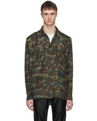 Faith Connexion - Green Silk Camo Shirt - Lyst
