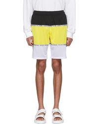 Opening Ceremony - Yellow Limited Edition Colorblock Shorts - Lyst