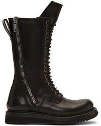 Rick Owens - Black Army Creeper 2 Zip Boots - Lyst