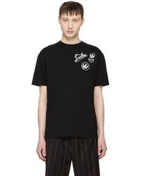 McQ - Black Skater Swallow Badge T-shirt - Lyst
