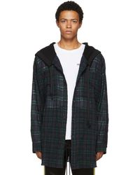 Faith Connexion - Navy And Green Ck Hooded Overshirt - Lyst