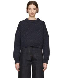 Studio Nicholson - Navy Three Gauge Jumper - Lyst