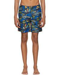 Onia - Black Island Convo Calder Swim Shorts - Lyst