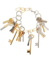 Balenciaga | Gold And Silver Multi-key Necklace | Lyst