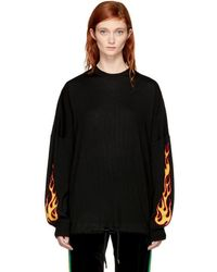 Palm Angels - Black Palms & Flames Sweater - Lyst