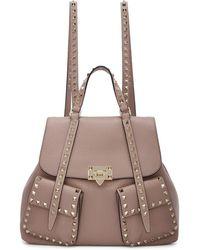 Valentino - Pink Garavani Rockstud Backpack - Lyst