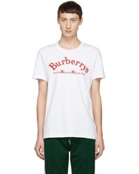 Burberry - White Vintage Logo T-shirt - Lyst