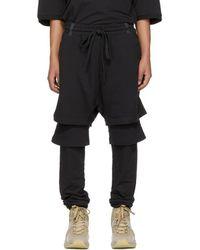 Ueg - Black Layered Drop Lounge Pants - Lyst