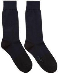 Marni - Navy & Black Merino Socks - Lyst