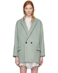 Isabel Marant - Green Filey Timeless Coat - Lyst