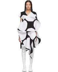 Junya Watanabe - Black And White Exaggerated Ruffle Polka Dot Dress - Lyst