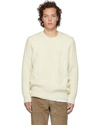 Norse Projects - Off-white Arild Cable Knit Jumper - Lyst