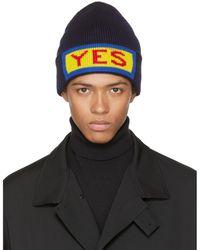 Fendi | Navy 'yes' Beanie | Lyst