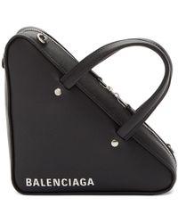 Balenciaga - Black Xs Triangle Chain Bag - Lyst