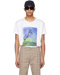Acne Studios - White Naive Land T-shirt - Lyst
