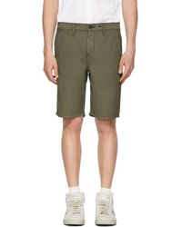 Rag & Bone - Green Classic Chino Shorts - Lyst