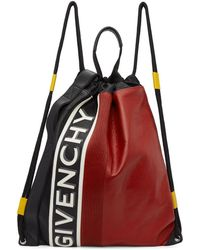 Givenchy - Black And Red Mc3 Drawstring Backpack - Lyst