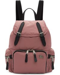 Burberry - Pink Medium Backpack - Lyst