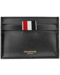 Thom Browne - Ssense Exclusive Black Embossed Toy Icon Single Card Holder - Lyst