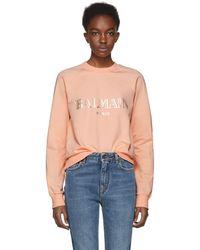 Balmain - Pink Logo Sweatshirt - Lyst