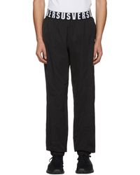 Versus - Black Logo Waistband Lounge Trousers - Lyst
