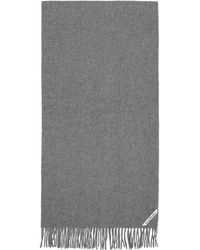 Acne Studios - Grey Canada Narrow New Scarf - Lyst