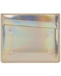 Maison Margiela - Gold Metallic Card Holder - Lyst