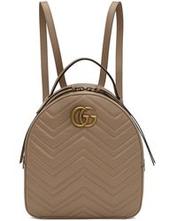 Gucci - Pink Gg Marmont Backpack - Lyst