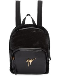 Giuseppe Zanotti - Black Mini Leather Backpack - Lyst