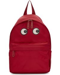 Anya Hindmarch - Red Nylon Eyes Backpack - Lyst
