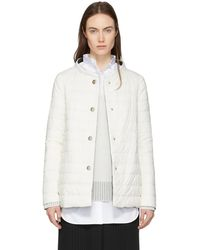 Herno | Reversible Down White And Black A-line Jacket | Lyst