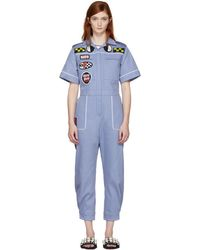 Miu Miu - Blue Denim Mechanic Jumpsuit - Lyst