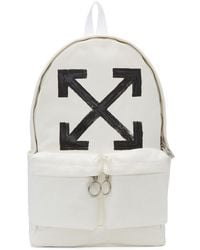 Off-White c/o Virgil Abloh - White Brushed Arrows Backpack - Lyst