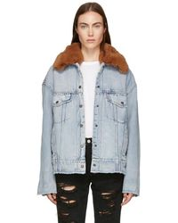 Levi's - Blue Denim Oversized Sherpa Trucker Jacket - Lyst