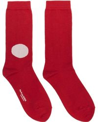 Blue Blue Japan - Red Japanese Flag Socks - Lyst