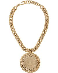 Balmain - Gold Medallion Necklace - Lyst