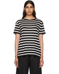 R13 - Striped Cotton And Cashmere-blend T-shirt - Lyst