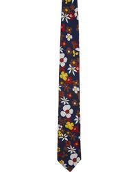 Prada - Multicolor Bloom Tie - Lyst