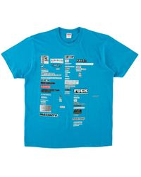 e0ed5dce Supreme Mean Tee in Blue for Men - Save 10% - Lyst