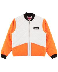 Supreme - Color Blocked Quilted Jacket - Lyst